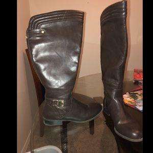 Brown Jasmine WIDE CALF Boots